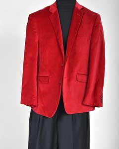 Velvet Sport Coat- Red