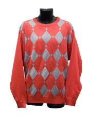 Mens Red Crew Neck Sweaters Available in Big And Tall Sizes