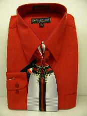 Red Dress Shirt Tie Set