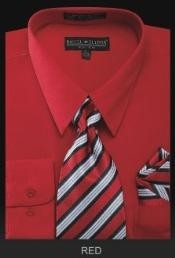TIE - Red Mens Dress Shirt