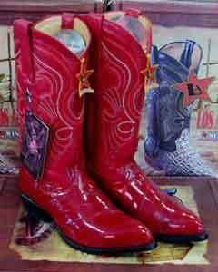 Altos Red Genuine Eel Western Cowboy Boot ~ botines para hombre