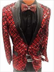 Shiny Flashy Fashion Sequin Cheap Priced Blazer Jacket For Men ~