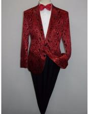 Albert Nardoni Brand Mens Cheap Priced Blazer Jacket For Men Red(Wholesale Price