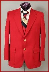$399 Harwick Made in USA Mens Hot Red 2 Button Cheap Priced Blazer Jacket For Men Sportcoats