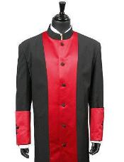 Clergy Long Robe Red/Black