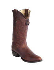 Mens Handcrafted Wild West Genuine Rage Cowboy Leather Round Toe walnut Dress