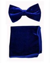 with Hanky Royal Blue