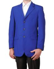 Royal Blue Cheap Priced Designer Fashion Dress Casual Mens Wholesale Blazer  On Sale Three buttons Notch