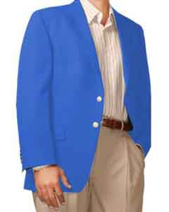 Button Blazer Royal-blue (Men