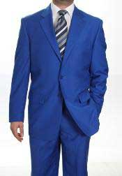 Two Button Dress Cheap Priced Business Suits Clearance Sale for Men Royal Blue Jacket Blazer + Pants