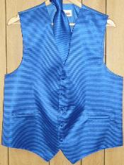 BLUE Groomsmen Dress Tuxedo Wedding Vest ~ Waistcoat ~ Waist coat