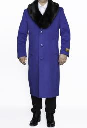 Royal Blue Dress Coat on Sale