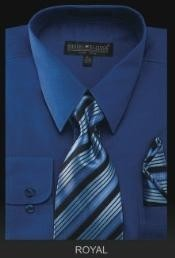 Dress Shirt - PREMIUM TIE - Royal