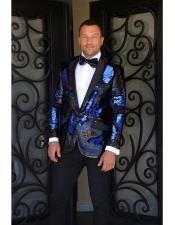 fashion paisley print tuxedo Sequin ~ Shiny ~ Flashy ~ Shark skin Royal Blazer Dinner jacket