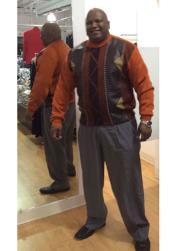 Long Sleeve Sweater Rust/Brown
