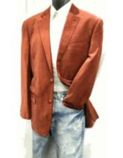 Alberto Nardoni Brand Mens Rust ~ Cognac Velvet Blazer