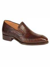 Brand Rust Genuine Lizard Loafer Shoes
