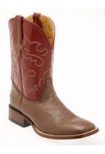 Smooth Ostrich S-Toe Boots