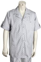 Patterned Short Sleeve Button
