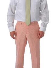 ~ sear sucker Slacks Dress Pants Available in orange color unhemmed