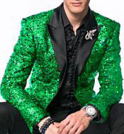 Mens glitter sparkly Green Embroidery Blazer ~ Alberto Nardoni Brand- Paisley Fashion Dinner Jacket Sport coat Tuxedo