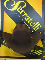 Serratelli Designer 100x El Comandant Platinum 3 1/2 Brim Western Cowboy