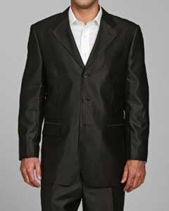 Shiny Black 3 buttons Suit