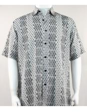 Short Sleeve Black/White mens new pattern fashion shirt