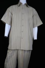 Stripes Pocketless Short Sleeve
