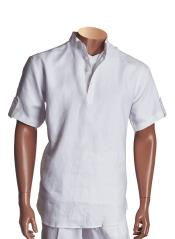 White Short Sleeve Collared