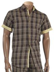 Short Sleeve Windowpane Designed