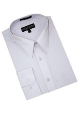 Grey Cotton Blend Dress Shirt With Convertible Cuffs