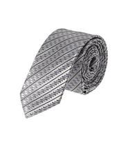 Skinny Necktie Silver Woven
