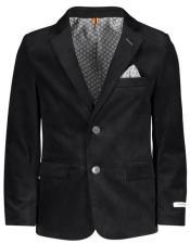 ~ Children ~ Kids ~ Children Velvet ~ Velour Blazers Sport Coat Jacket Black