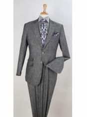 Grey Linen Fabric Summer Suit Jacket and pants