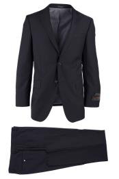 Novello 2 Button Notch Lapel Modern Fit Black Luxe Fine Brands
