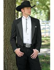 Mens Black Western Traje Vaquero Suit & Tuxedo