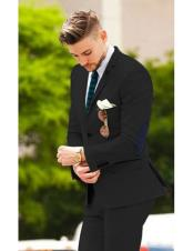 suit jacket with elbow patches Black Matching Free pants  (Slim