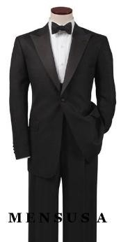 Luxurious Classic Black Tuxedo Single-breasted Notch Lapel Side Vented