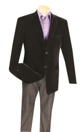 Black Big And Tall Blazers Clearance Cheap Priced Velvet ~ Velour Blazer