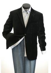 Big And Tall Mens Black Blazers Clearance Cheap Priced Velvet ~ Mens