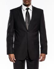 Mens black slim fit wedding prom