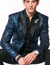 Brand Mens Blue Sequin
