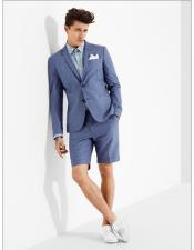 Shorts Set Pants Summer Suit Blue