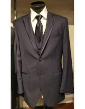 Brown Single Breasted Two Button Notch Lapel Tuxedo