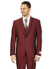 Bruno Slim Fit Burgundy