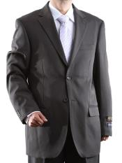 Mens Two Button Single Breasted Dual Side Vents 100% Polyester Suit