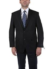 Classic Black 2 Button Blazer Suit Jacket