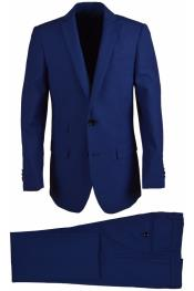 Wool Blend Cobalt Boys Suit