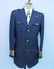 ~ Jean Blue Suit with brass buttons